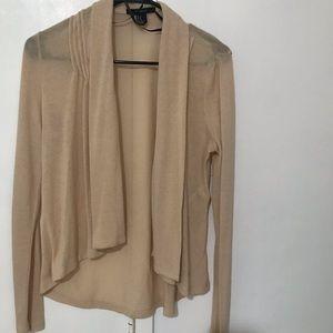 pintucked shawl collar cardigan